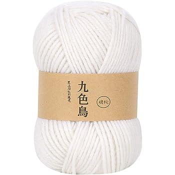 Comie - Ovillo de lana para tejer, hilo acrílico para tejer, juego ...