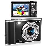 Digital Camera, Lecran FHD 2.7K 44.0 Mega Pixels Vlogging Camera with 16X Digital...