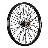 Taylor-Wheels 20 Zoll BMX Fahrrad Hinterrad 48 Loch schwarz mit 18 Zahn Ritzel