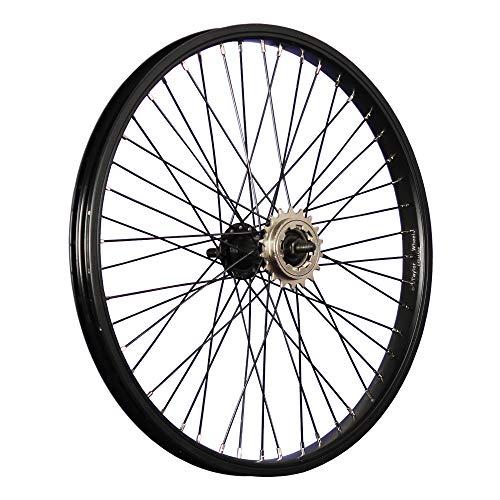 Taylor-Wheels 20 Zoll BMX Fahrrad Hinterrad Laufrad 48 Loch schwarz mit 18 Zahn Ritzel