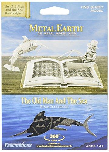 Metall Earth–Modellbausatz–Der Alte Mann und das Meer Buch Skulptur (Fascinations mms117)