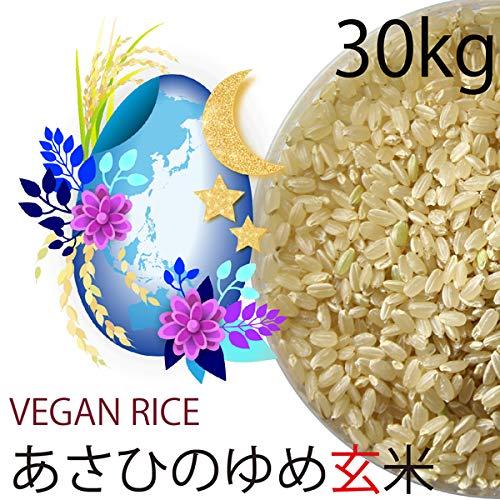 【令和元年産】あさひの夢玄米 30kg 無農薬・無化学肥料(動物性肥料不使用) 群馬県産・放射性物質検査済
