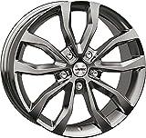 4 ruote integrali invernali Uteca 8x18 ET 38 5x112 argento titanio con 225/55 R18 102V Continental WinterContact TS 870 P XL FR