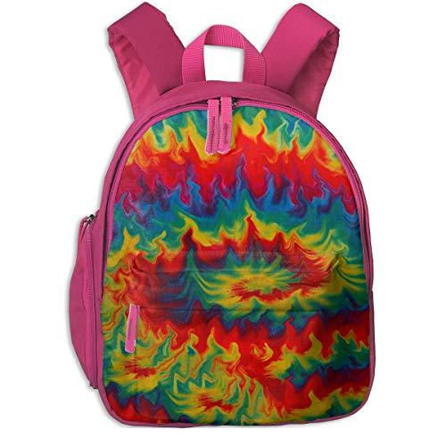 Laptoprucksack,Tie Dye Rainbow Whirlpool Studententasche, Hilfreiche Kindertaschen Für Kinder Beim Klettern Auf Reisen,26x32x10cm
