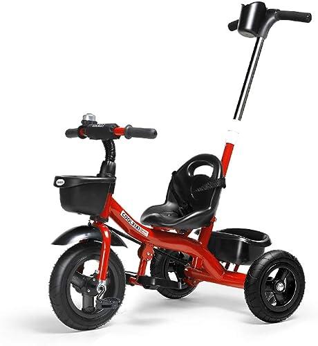 SHX ETWL Bikes Tricycle pour Enfants, avec poignée de poussée Amovible