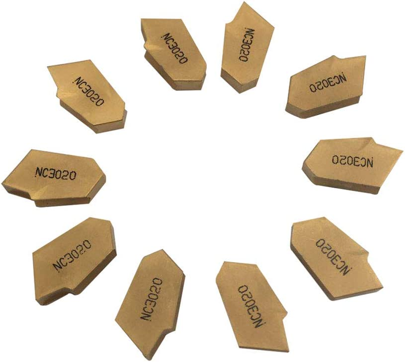 GBJ SP200 NC3020 Slotted Carbide Inserts Parting And Grooving Metal Tool Lathe Tool Grooving Turning Tool