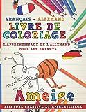 Livre de coloriage: Français - Allemand I L'apprentissage de l'allemand pour les...