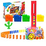 Domino Train for Kids, Building and Stacking Toy Domino Blocks for Kids 2-6 Years Old, Boys and Girls Creative Toys and Gifts Set