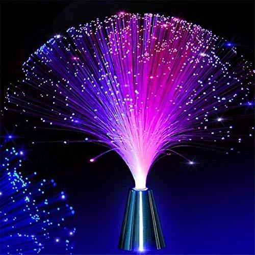 Romantische Licht-Partei-Deko Licht Beruhigende Lampe Weihnachten 2Pcs LED bunten Wechsel Fiber Fiber Optic-Brunnen-Nachtlicht