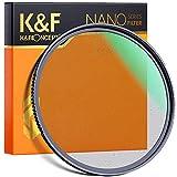K&F Concept ブラックミスト 77mm ソフト効果 1/4 コントラスト調整用 レンズフィルター 超薄枠 撥水 光学ガラス