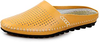 Men Sandals Slippers for Men Casual Sandals Microfiber Leather Hollow Half A Towed Shoes Pure Colors Comfortable