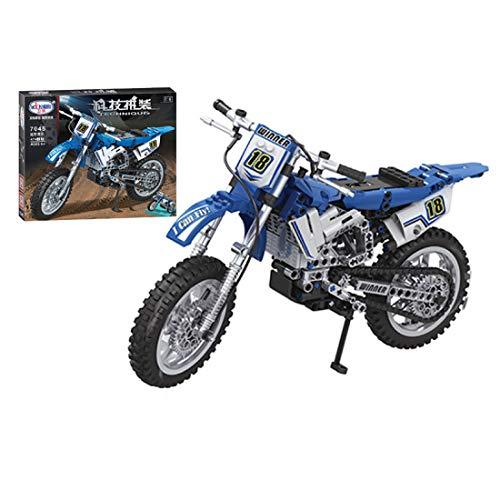 Teakpeak Technik Motorrad, 474Teile 1:6 Technik Renn Motorrad Modell Crossbike Motorrad Bausteine Motorrad Rennmaschine, kompatibel mit Lego Technik (Geschenkbox)