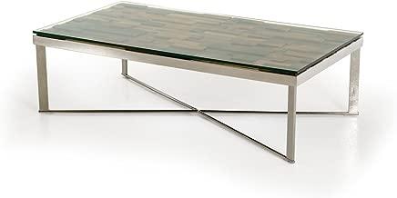 Modrest Santiago Glass Top Coffee Table