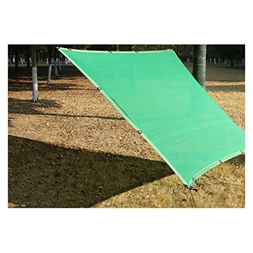 LSSB Malla De Sombreo Cifrado A Prueba De Viento Aislamiento HDPE Solar Sombra Paño para Exterior Jardín Balcón Cochera Invernadero, Personalizable (Color : Green, Size : 4x6m)