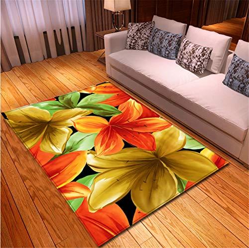 chengcheng Nordic Style 3D Florals Teppich Flanell Memory Foam Weiche Teppiche Schlafzimmermatten Bodenteppiche Pastorale Teppiche Für Wohnzimmer 140X200CM
