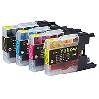 BROTHER / ブラザー 高品質 純正互換インクカートリッジ LC12-4PK 4色パック 保証1年 Barongオリジナル