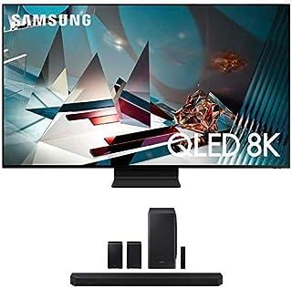 "Samsung QN82Q800TA 82"" 8K Ultra High Definition QLED Smart Bluetooth TV with a Samsung HW-Q950T 9.1.4 Channel Soundbar wit..."