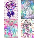 fanshiontide 4 Piezas Kits de Bricolaje de Pintura de Diamante 5D, kit de Bordado de Arte de Diamante, Arte de Punto de Cruz de Diamante 11,81x15,75 Pulgadas