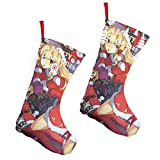 Pummbaby Merry Christmas Xmas Cute Santa Girlmerry Christmas Stockings Xmas Socks Ornament Themed 10 Inch Double 2pcs Large Pair Formal Unique Female Male Hanger Pole
