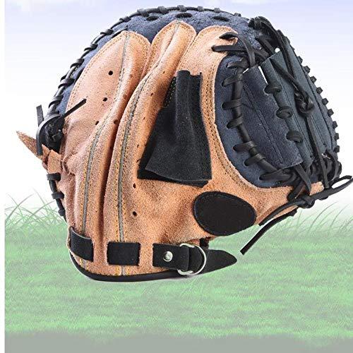 DWST Cuero Guante de béisbol for Adultos Completa Catcher Infield Lanzador del Guante del Softball de Formación Profesional Práctica de Deportes al Aire Libre Equipo Espesar (Size : 12.5)