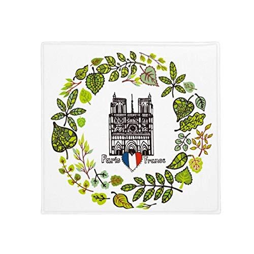 DIYthinker Cathédrale de Notre Dame Paris France antidérapant Tapis de Sol pour Animal Domestique Porte de Cuisine de Maison carré 80 cm Cadeau