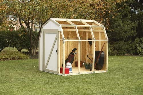 Outdoor Garden Storage shed Basics shed shed Kits, barn Style roof,Wood Color