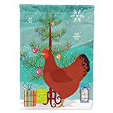 Caroline s Treasures BB9210CHF New Hampshire Red Chicken Christmas Flag Canvas House Size, Large, Multicolor