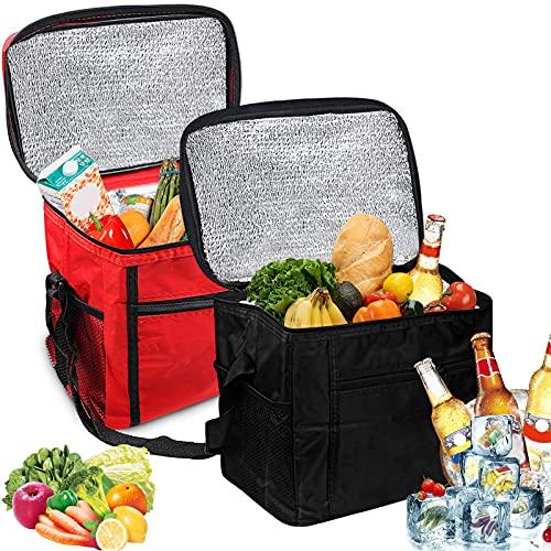 Kühltasche Faltbar,2er-Set 10L Picknicktasche Kühltasche,Lunch Tasche,Kühltasche Eistasche,Kühltasche Mini Faltbar,Minikühltaschen,Thermotasche Faltbar Klein,Isoliertasche Lunch,Kühlbox für Picknick