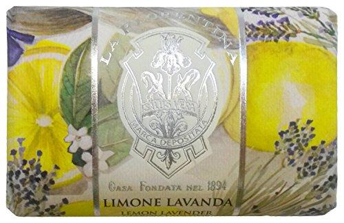 La Florentina:'Limone Lavanda' Bar Soap, Lemon Lavender Scent,'Bellosguardo' Collection - 7 Ounces (200g) Package [ Italian Import ]
