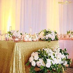 Gold Rectangular Sequin Tablecloth