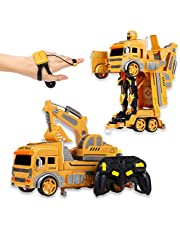 CANOPUS RC Deformazione Escavatore, Giocattolo Robot per Veicoli, Telecomando con Dispositivo e Orologio da Polso, Controllo Tramite Gesto e Movimento della Mano per Tutti i Bambini e Gli Adulti
