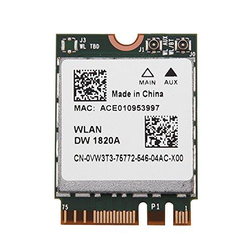 DW1820A BCM94350ZAE Drahtlose Netzwerkkarte Drahtlose LAN-Karte 2-in-1-Bluetooth-AC-Dualband-WLAN-Karte für Dell/Acer/Sony/Toshiba/Asus/Hasee-Laptop