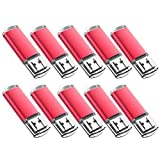 JUANWE 20 Pack 4GB USB Flash Drive USB 2.0 Thumb Drives Jump Drive Memory Stick Pen - Red