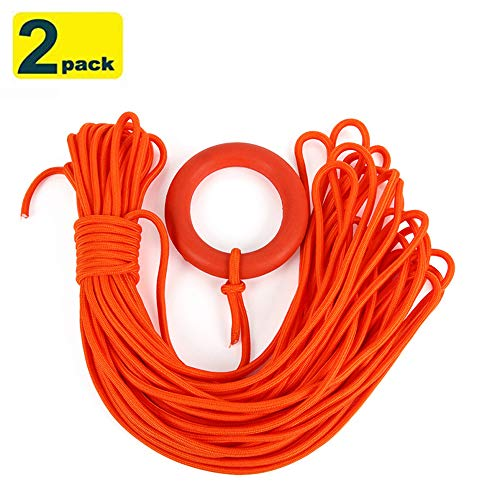 Outdoor Professional Water Floating Lifesaving Rope, water Floating Rescue Lifeline with Bracelet, high Strength, UV Resistant and Excellent Shock Absorption, Thickness ¼ Inch | Good for Tie, Pull