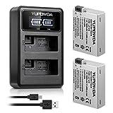 LP-E8 YUPOWDA Paquet de Batterie de Remplacement (2-Pack) et Double Chargeur...