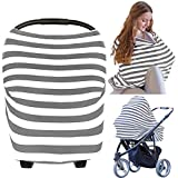 Carseat Canopy Cover - Baby Car Seat Canopy KeaBabies - All-in-1 Nursing Breastfeeding Covers Up - Baby Car Seat Canopies For Boys, Girls - Stroller Covers - Shopping Cart Cover (Gray) by KeaBabies
