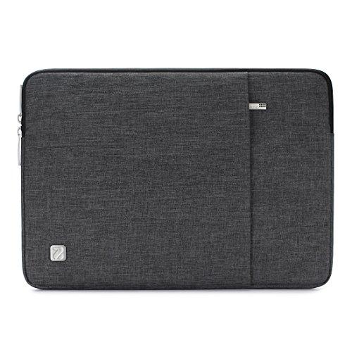 """NIDOO 15 Pouces Imperméable Housse Pochette de Protection Ordinateur Portable pour 15"""" MacBook Pro 2016-2018 Touch Bar with Integrated Touch ID /14"""" Lenovo Ideapad 330/15"""" Surface Book 2, Gris foncé"""