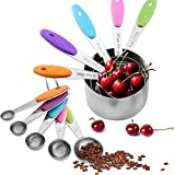 Measuring Cups and Spoons Set Of 10, Colorful Measuring Cups Stainless steel, Liquid Measuring Cups and Dry Measuring Cup Set, Pyrex measuring Cups, First Choice For Kitchen Baking