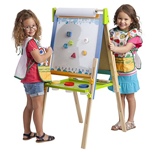 ECR4Kids 3in1 Premium Standing Adjustable Art Easel with Accessories for Kids Play Time
