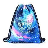 GOTH Perhk KPOP BTS Bangtan Boy Galaxy Kordelzug Rucksack Starry BTS New Logo Sporttasche...