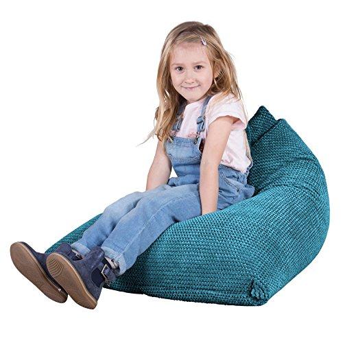 Lounge Pug®, Kinder Sitzsack Gaming, Kindersessel, Pom-Pom Türkis