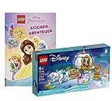 Collectix Lego Cendrillon – Set : carrosse royale Cendrillon (43192) + autocollants Disney Princesse Adventure (couverture souple), kit à partir de 6 ans