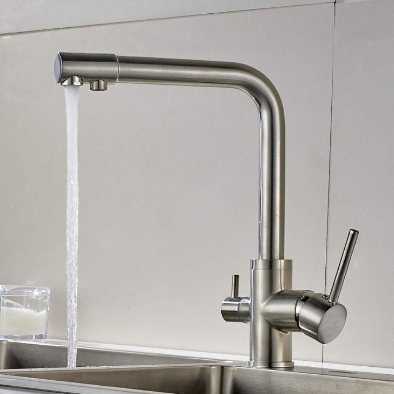 Lddpl Wasserhahn Wasserfilter Küchenarmatur aus gebürstetem Nickel Hahn 360 Drehung mit Wasseraufbereitung Features Wasserhhne zum Trinken Küchenmixer