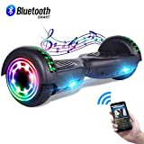 CBD 6.5' Hoverboard w/Bluetooth Speaker, Self Balancing Hoverboard for Kids with LED Lights, UL 2272 Certified Bluetooth Black Hoverboard