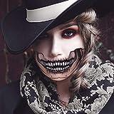 HUHUDAY Halloween Tattoos, Halloween Kostüm, Halloween Schminke, Wasserdicht, Gesicht Tattoos, 4 PCS Halloween Tattoos Spezial FX Kostüm Makeup Stützen für Party Cosplay Mottopartys