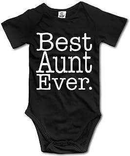 Unisex Baby's Best Aunt Ever Bodysuits Romper Short Sleeved Onesies