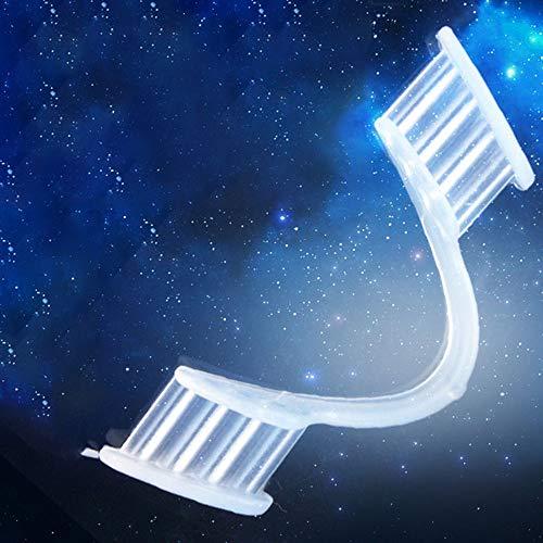 DJB Mundschutz Silikon transparente Stop Backenzähne zum Schutz der Zähne,Nacht Backenzähne Zahnspangen Biss Schiene Mundschutz (Fünf)