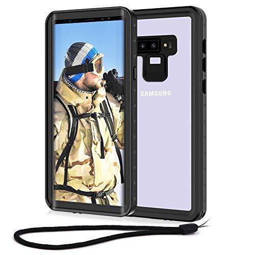 Beeasy Funda Samsung Note 9,Impermeable 360 Grados Protección IP68 Carcasa para Galaxy Note 9 Antigolpes Rígida Robusta Resistente Impacto Militar Duradera Blindada Fuerte Seguridad Case Cover,Negro