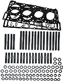 ARP Head Stud Kit &OEM Style Black Diamond 18mm Head Gaskets Bundle compatible with...