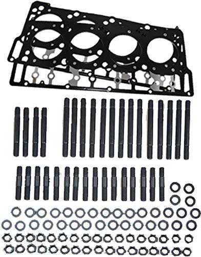 ARP Head Stud Kit &OEM Style Black Diamond 18mm Head Gaskets Bundle compatible with Ford Powerstroke 6.0L